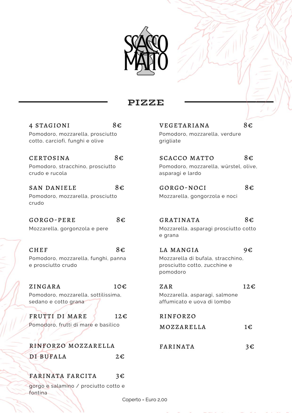 Ristorante Pizzeria Scacco Matto Torino